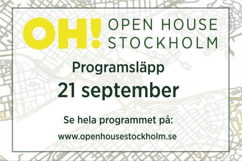 Årets Open House Stockholm-byggnader avslöjas den 15 september
