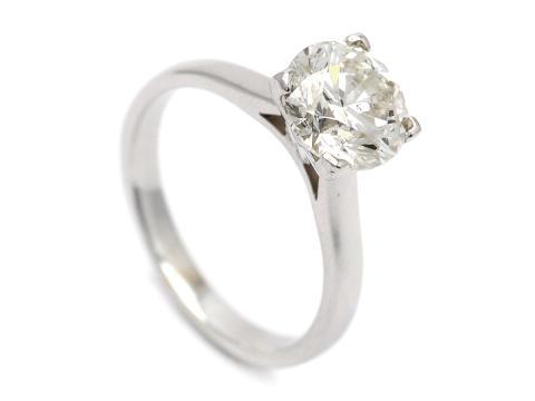 Klassiska 24/5, Nr: 327, ENSTENSRING, 18K vitguld, briljantslipad diamant 2,00 ct