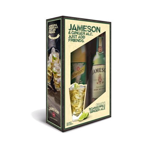 Jameson und Ginger Ale in Geschenkpackung