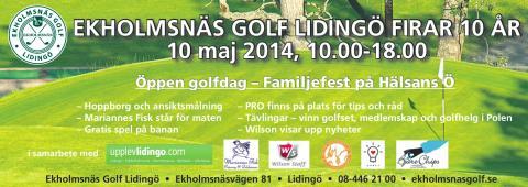 Öppen golfdag - Ekholmsnäs Golf Lidingö fyller 10 år!