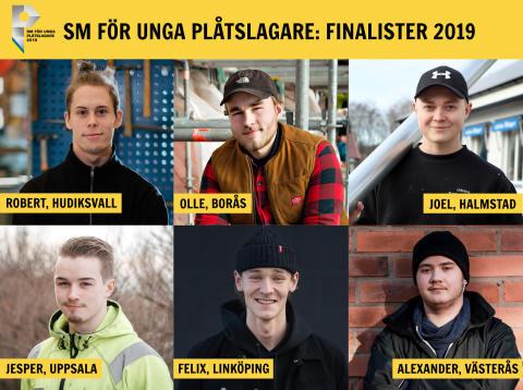 """Här är årets finalister i """"SM för unga plåtslagare 2019""""!"""