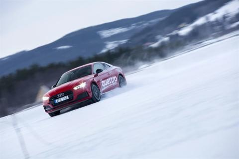 Anja Pärson Audi driving experience