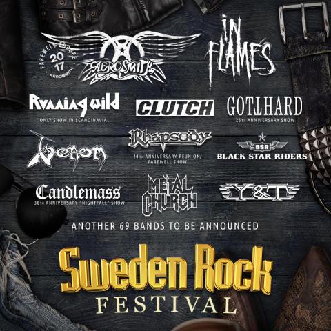 In Flames, Running Wild med flera till Sweden Rock!