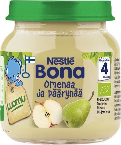 Nestlé tuo markkinoille ensimmäiset Suomessa valmistetut luomulastenruuat purkissa