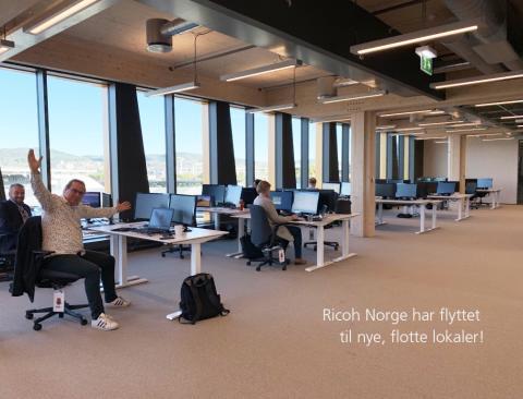 Ricoh Norge har flyttet til Valle Wood