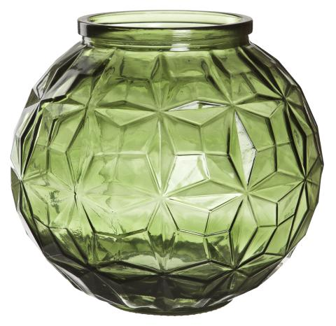 Vas i grönt glas