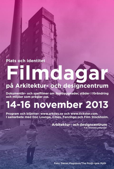 Filmdagar på Arkitektur- och designcentrum