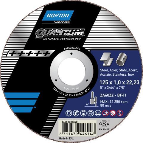 Norton Quantum - Cutting-off wheel Ultimate Technology