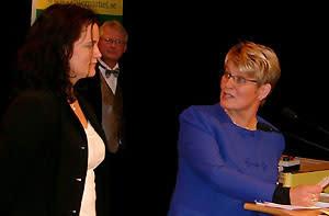 Catrin Mattson får centerpartiets jämställdhetspris