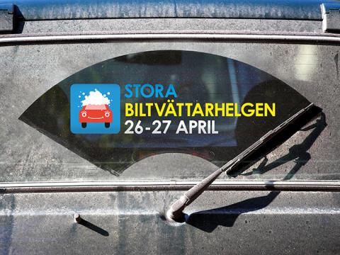 Stora biltvättarhelgen i Örebro 26–27 april
