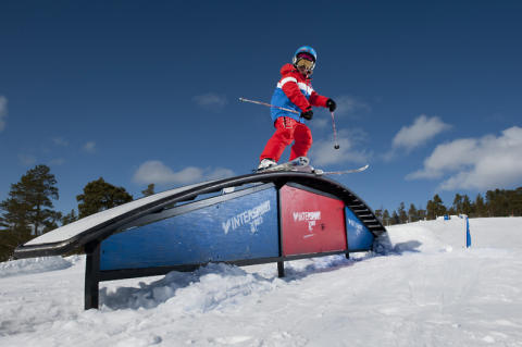 Rails i Idre Fjälls snowpark