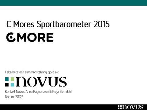 C Mores Sportbarometer 2015