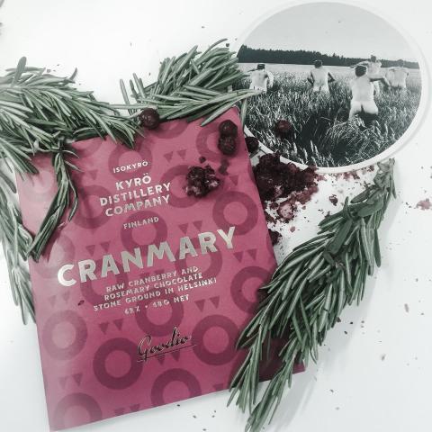 Nyhet – Goodio rawchoklad med gin, tranbär och rosmarin