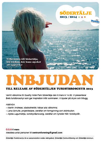 Release av Södertälje Turistbroschyr 2013