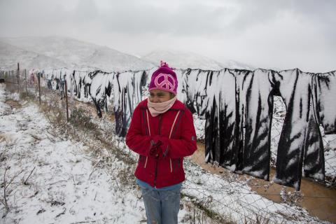 Flicka i flyktingläger