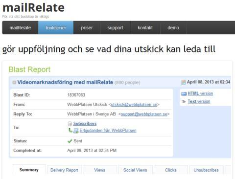 Se vad dina utskick kan leda till i mailRelate