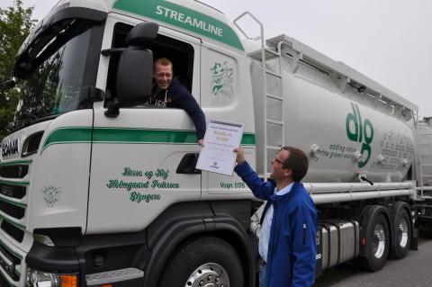 Scania nr. 10.000 med automatisk overførsel af fartskriverdata