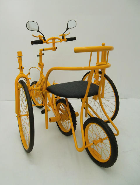 Journey of a yellow bike