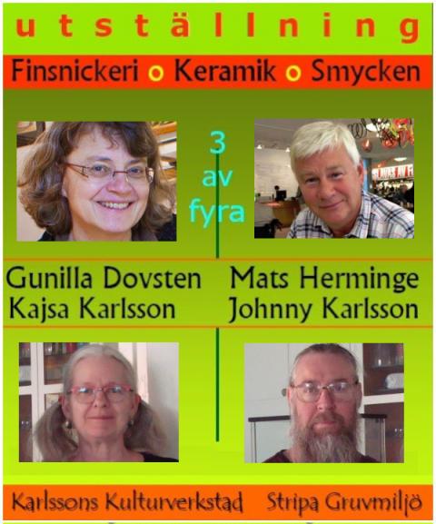 Vernissage för ny utställning i Karlssons Kulturverkstad