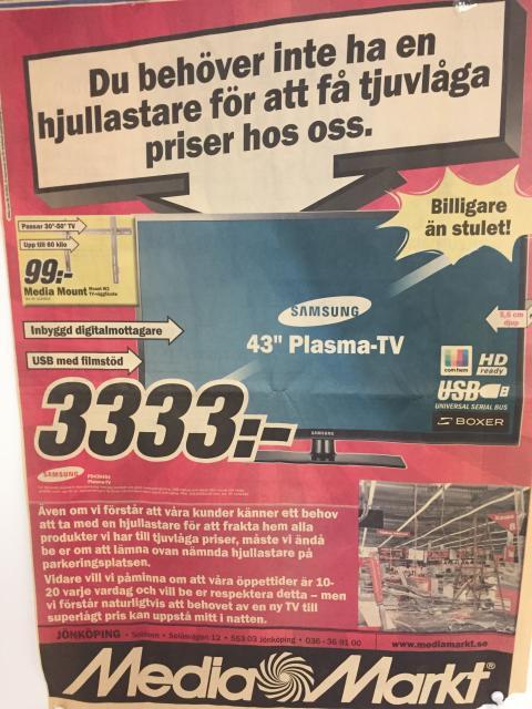 Den omtalade annonsen efter inbrottet