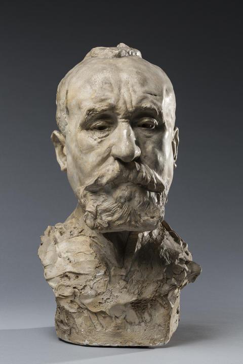 Auguste Rodin, Pierre Puvis de Chavannes, Undated. Plaster. Musée Rodin, Paris