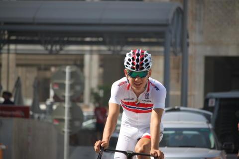 Ludvig Aspelund Holstad under sykkel-VM 2016