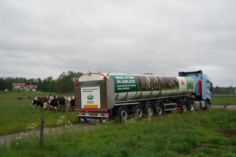 Biogasdriven mjölktankbil