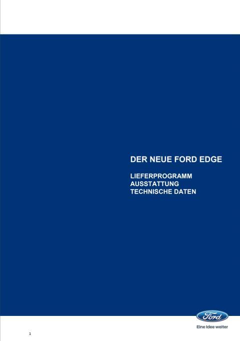 Technische Daten Ford Edge