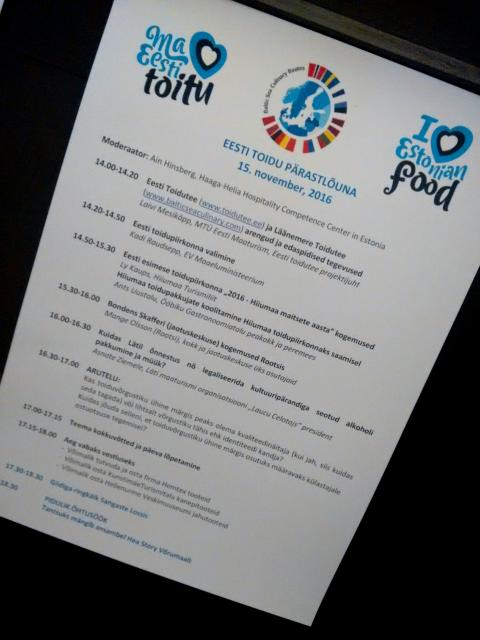 Haaga-Helia Estonia Moderated International Food Tourism Workshop