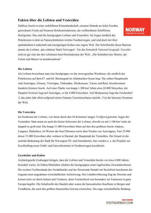 Lofoten und Vesterålen – Atemberaubende Archipele in Nordnorwegen