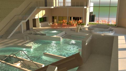 Första spadtaget för nya badhuset i Kungsbacka