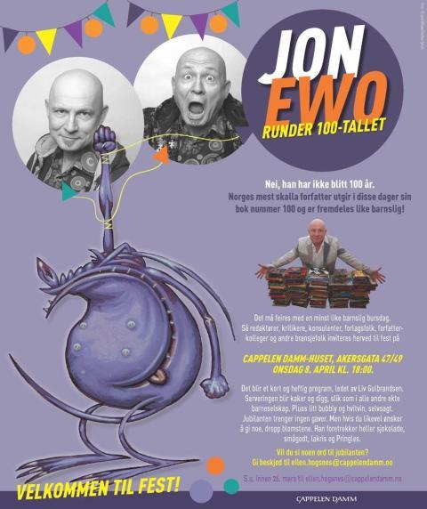 Forfatter Jon Ewo ute med bok nummer 100