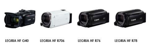 Canons nya videokameror fångar varje ögonblick – LEGRIA HF G40 och tre modeller i LEGRIA HF R-serien