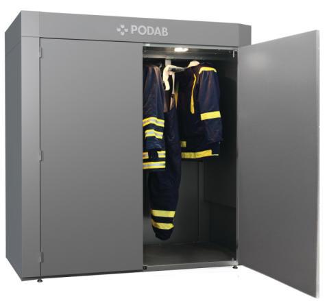 PODABs nya torkskåp förlänger livslängden på skyddskläderna