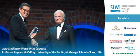 Press Release: Stephen McCaffrey, trailblazer in international water law, receives 2017 Stockholm Water Prize