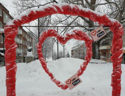 Pussplats i Piteå sprider kärlek