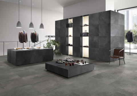 New Tiles for 2019 from Villeroy & Boch New architectural range in the subtle look of slate – GATEWAY: Subtle relief, expressively colourful