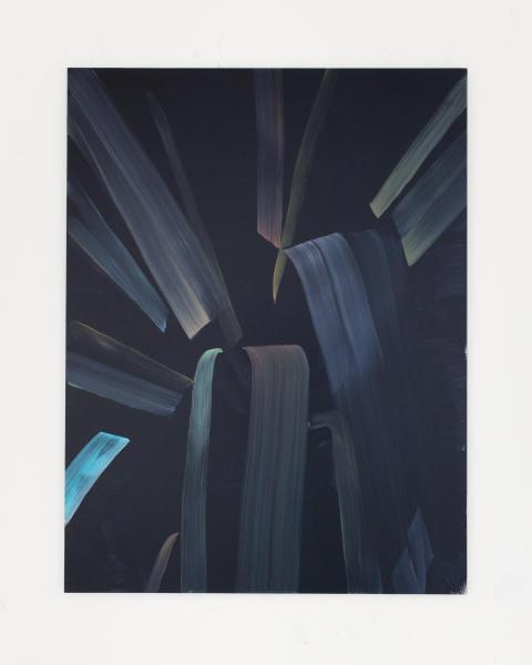 Marjolein Rothman, Plant VIII, 2019, Olja på aluminium