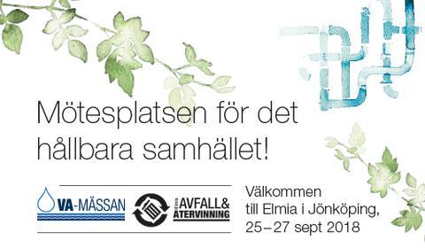 Pressinbjudan: Välkommen till Sveriges största mötesplats för VA, avfall och återvinning