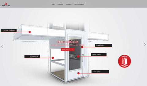 Aritco LiftGuide nominated for the Awwwards