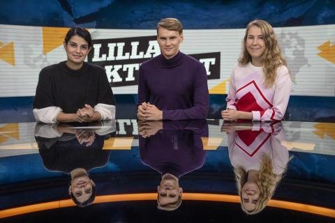 Lilla Aktuellt: Aida Pourshahidi, Kristoffer Fransson och Malin Andersson, nominerade i kategorin Årets Röst 2018