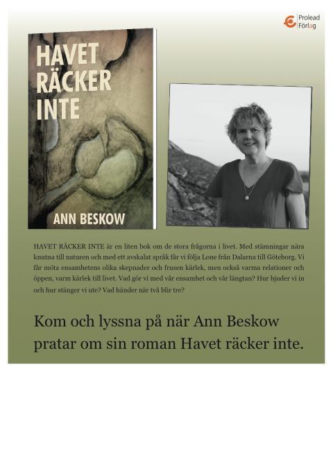 Bokpratarturné i Dalarna med Ann Beskow