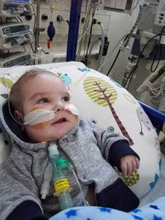 Friend fundraises for Baby Caleb who waits for heart
