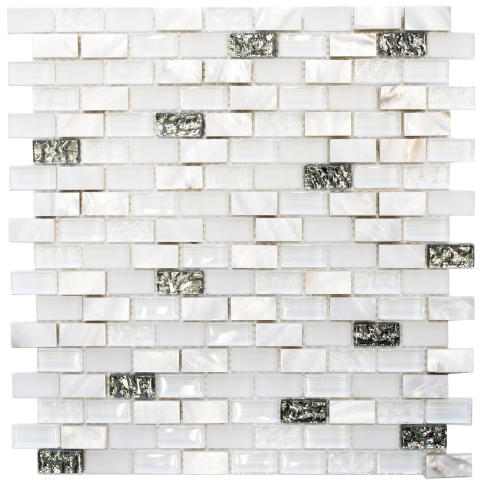 Mosaik Eventyr Den Sidste Perle Hvid 30x30, 1.248 kr. M2.