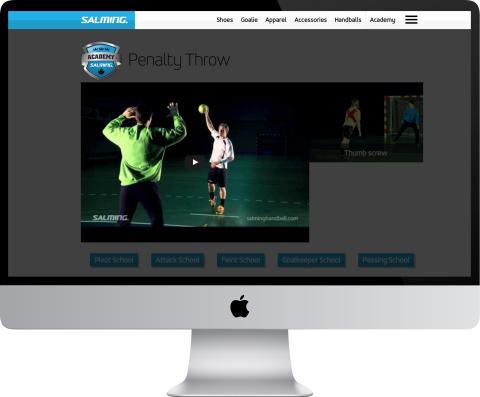Salming Academy Youtube - Webpage