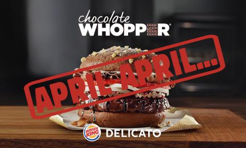 Choklad WHOPPER – ett klassiskt aprilskämt från BURGER KING och DELICATO