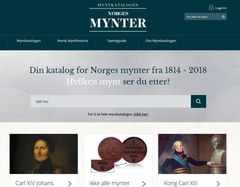 Myntkatalogen Norges Mynter på nett