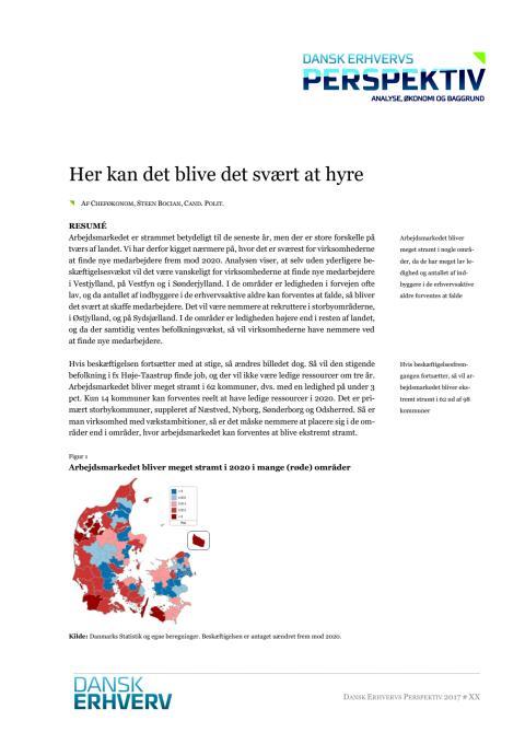 Analyse fra Dansk Erhverv - Rekrutteringsudfordringer