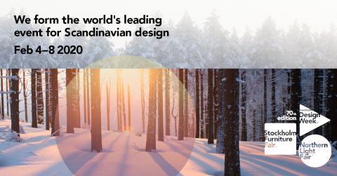 Besök oss på Stockholm Furniture & Light Fair 2020 på Stockholmsmässan den 4-8/2