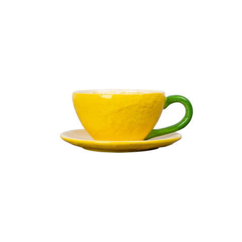 286-209y CUP AND PLATE LEMON